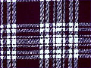 Menzies Navy/White, Modern - Pure Wool Tartan