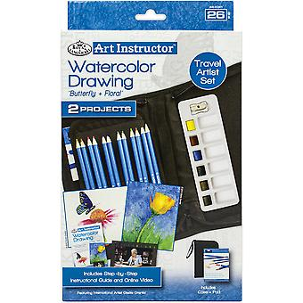 Art Instructor Watercolor Drawing Travel Set-Small - 26pc RKC301