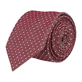 OTTO KERN narrow tie, Red spotted