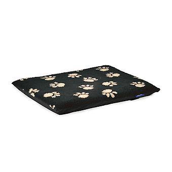 Sömnig tass tass Print platta Pad svart 122 X76cm