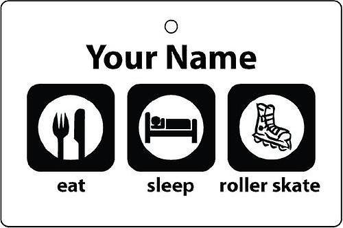 Personalised Eat Sleep Roller Skating Car Air Freshener