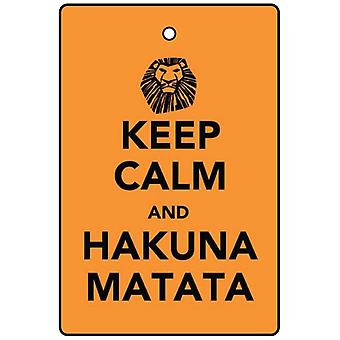 Keep Calm And Hakuna Matata Car Air Freshener
