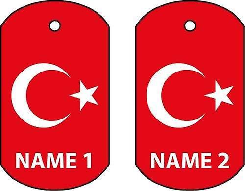 Personalised Turkey Dog Tag Car Air Freshener