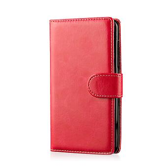 Book wallet case + stylus for Motorola Moto X Style (2015) - Red