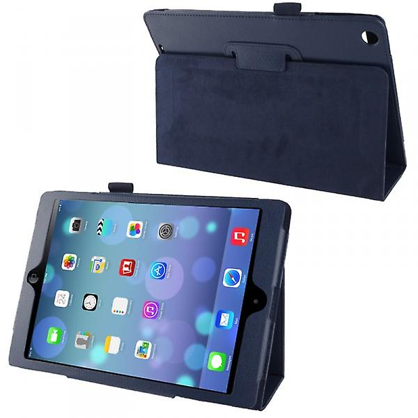 Cover art leather case blue for Apple iPad air