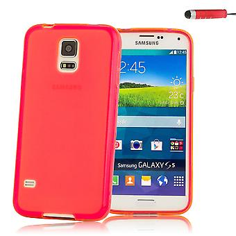 Crystal Gel case cover for Samsung Galaxy S5 Mini (SM-G800) - Red