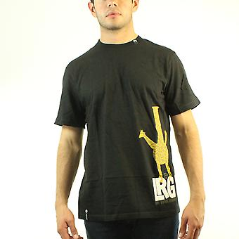 Lifted Research Group LRG Giraffe Eat Your Greens Men's Black T-shirt
