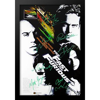 The Fast and The Furious - Signed Movie Poster