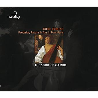 Jenkins / ånd af Gambo - fantasier Pavans & Airs i fire dele [CD] USA import