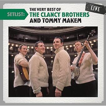 Hermanos de Clancy con Tommy Makem - lista de canciones: el muy mejor de los hermanos de Clancy [importación USA Liv [CD]