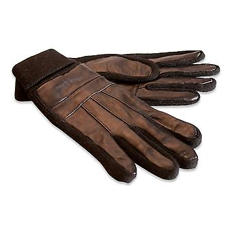 Quivano Mens Real Leather Gloves Knitted Elasticated Cuff Genuine 320-200