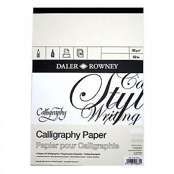 Daler Rowney Calligraphy Pad A3