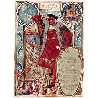 Walter Crane - Columbia's Courtship Poster Print Giclee
