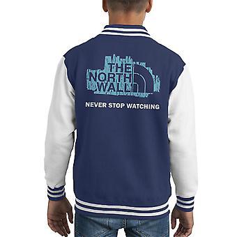 Il muro nord faccia gioco di Varsity Jacket troni capretto