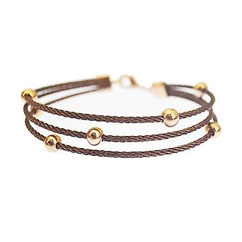 Kabl Stackable Twisted Stainless Steel Cable Bangle Bracelet - Orbitus