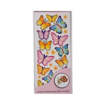 SALE - Anita's Dimensions Butterfly Wings 3D Sticker Sheet - Spring Mix