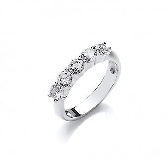 Cavendish French Silver and CZ 'Here to Eternity' Ring
