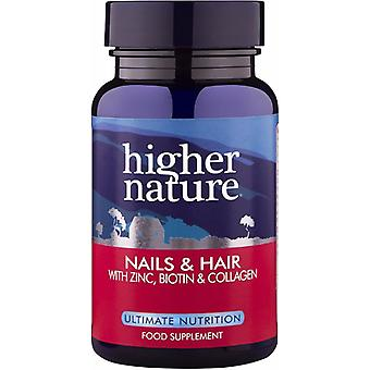 Higher Nature Nails and Hair Formula, 120 gel caps