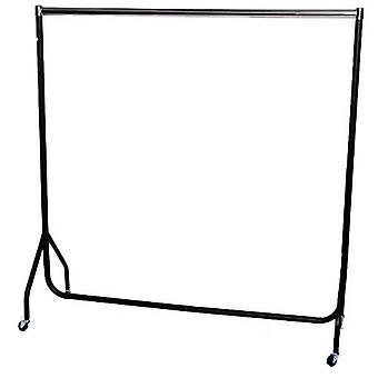 5ft Robust Chrome and Black Clothes Rail W 152 H 155 D 50 cms