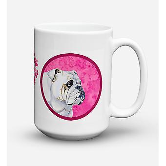 Bulldog engelska diskmaskin säkra mikrovågssäker keramisk kaffe Mugg 15 uns