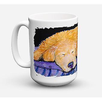 Golden Retriever Dishwasher Safe Microwavable Ceramic Coffee Mug 15 ounce