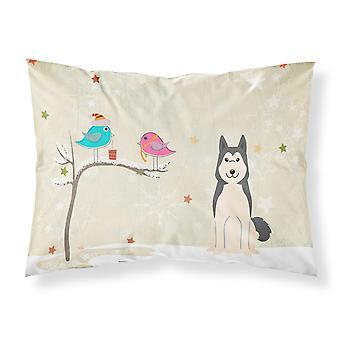 Christmas Presents between Friends West Siberian Laika Spitz Fabric Standard Pil