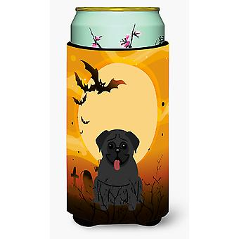 Halloween Pug Black Tall Boy Beverage Insulator Hugger