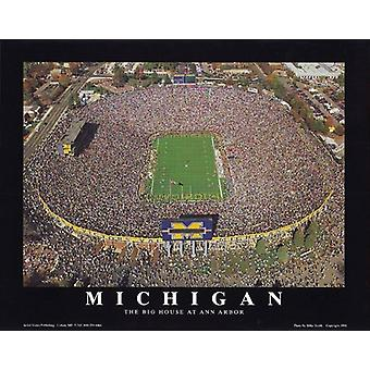 Mike Smith Michigan Stadium University of Poster Print by Mike Smith (10 x 8)