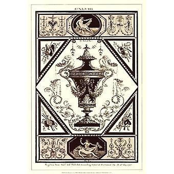 Sepia Pergolesi Urn ik Poster Print by Michelangelo Pergolesi (13 x 19)
