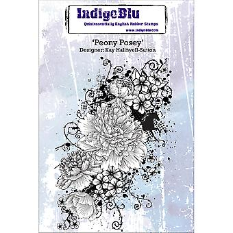 IndigoBlu Cling Mounted Stamp-Peony Posey IND0158P
