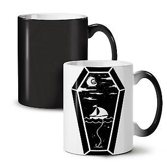Coffin Sea Ship NEW Black Colour Changing Tea Coffee Ceramic Mug 11 oz | Wellcoda