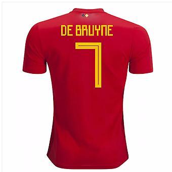 2018-2019 Belgia Adidas Strona główna koszula (De Bruyne 7)