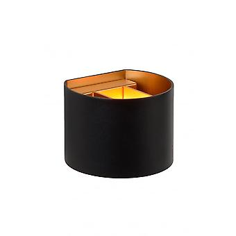 Lucide XIO Wall Light Round G9/4W 380LM 2700K Black