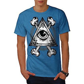 Driehoek oog mannen Koninklijke Bluetooth-shirt | Wellcoda