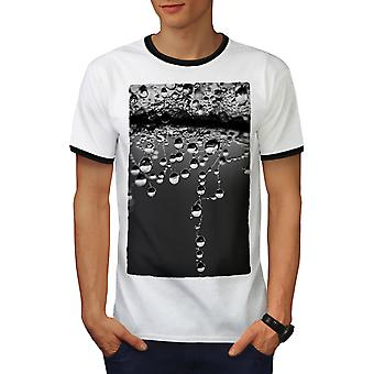 Drop Wild Novelty Men White / BlackRinger T-shirt   Wellcoda