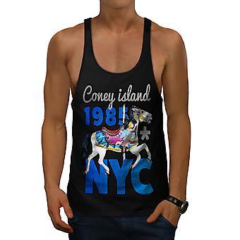 New York City Coney hommes drôles BlackGym débardeur   Wellcoda
