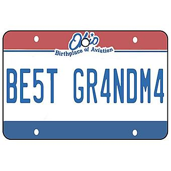Ohio - beste oma License Plate auto luchtverfrisser