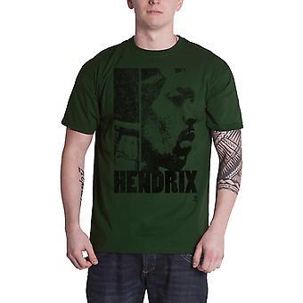 Jimi Hendrix T Shirt Let Me Live new Official Mens Khaki Green
