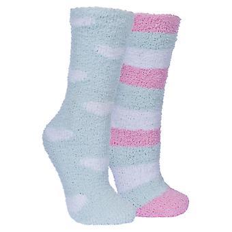 Повинности Мужская/Женская Snuggie пушистые трубки носки (2 пары пакет)
