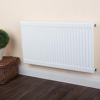 Round Top Radiator - Single - Type 10 - White - H300 x W800mm