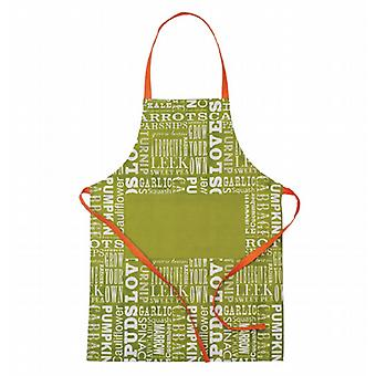 Vegetable Text Apron - 100% cotton