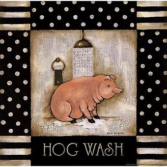 Hog Wash Poster Print by Cat Bachman (12 x 12)