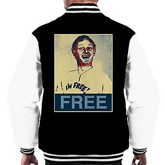 Are You Being Served Mr Humphries Im Free Poster Style Men's Varsity Jacket