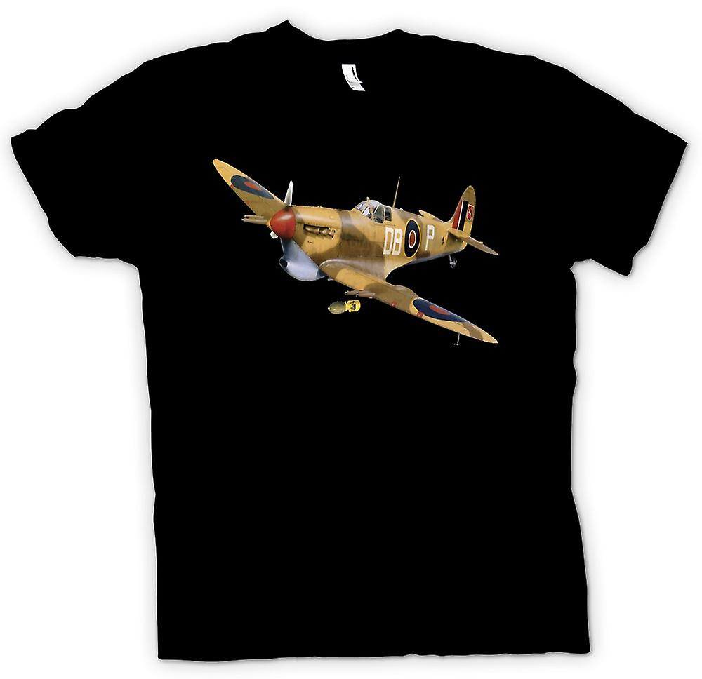 Mens T-shirt - Spitfire WW2 Airforce - Desert