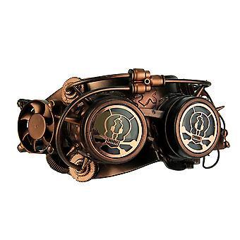 Steampunk schedel ogen metallisch koper volwassen kostuum masker