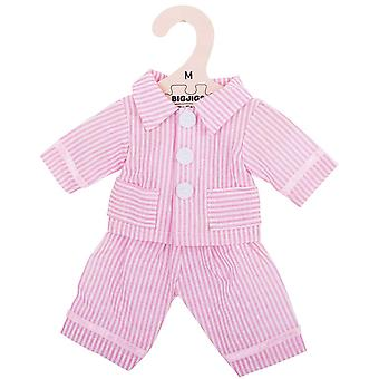 Bigjigs Toys Pink Striped Rag Doll Pyjamas for 34cm Soft Doll