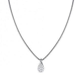 Esprit Damen Kette Collier Silber Zirkonia Blazing Drop ESNL93387A420