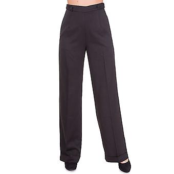 Banned Black Party On Flared Trousers XL