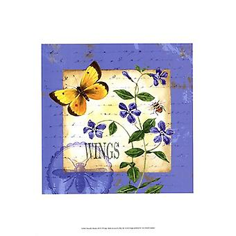 Butterfly Meadow III Poster Print by Jane Maday (13 x 19)