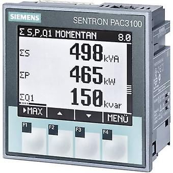 Digital rack-mount meter Siemens SENTRON PAC3100 Multifunctional measuring apparatus SENTRON PAC3100 Max. 3 x 480/277 V AC Assembly dimensions 92 mm x 92 mm
